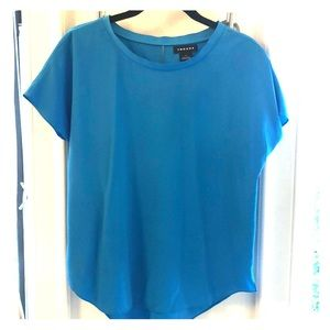 Trouve short sleeve blouse,  turquoise, small